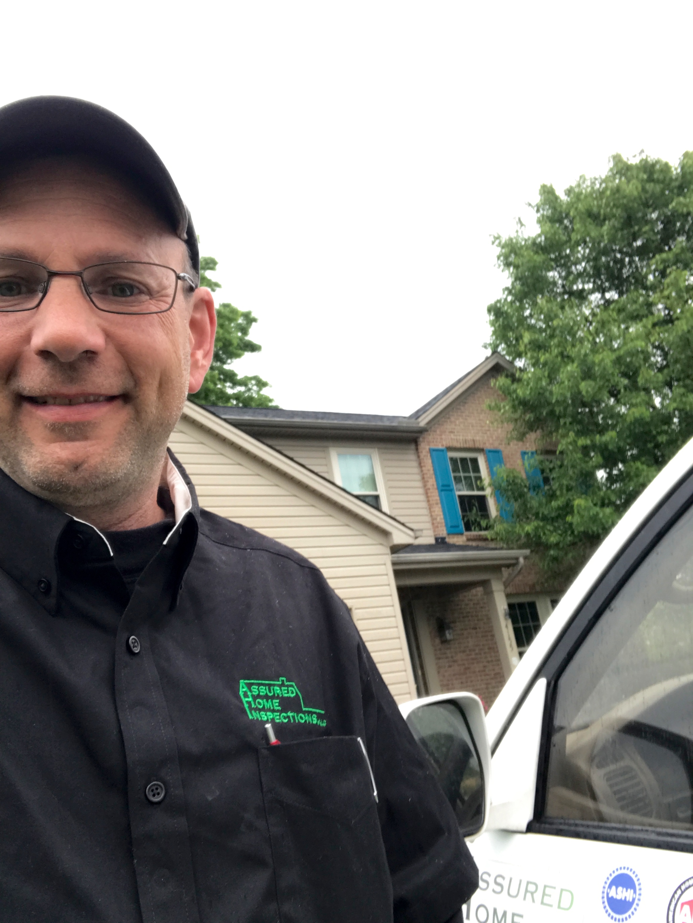 John Lawson of Assured Home Inspections out inspecting homes in Northern Kentucky